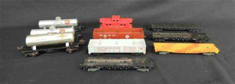 Group of 10 Lionel Freight Cars Featuring Gulf, Sunco,