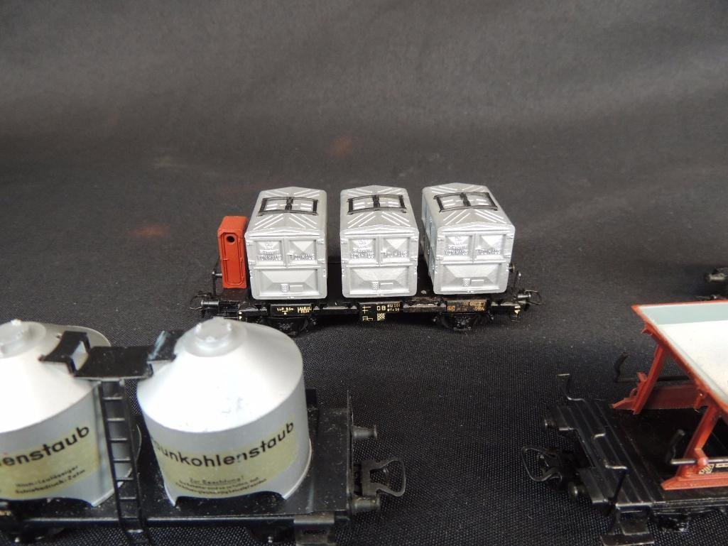 Group of 8 Vintage Marklin Train Cars Featuring - 3