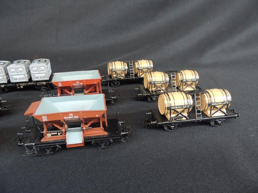 Group of 8 Vintage Marklin Train Cars Featuring - 5