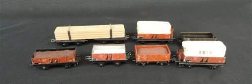 Pre War Trix Model German Made Train Box Cars, Coal