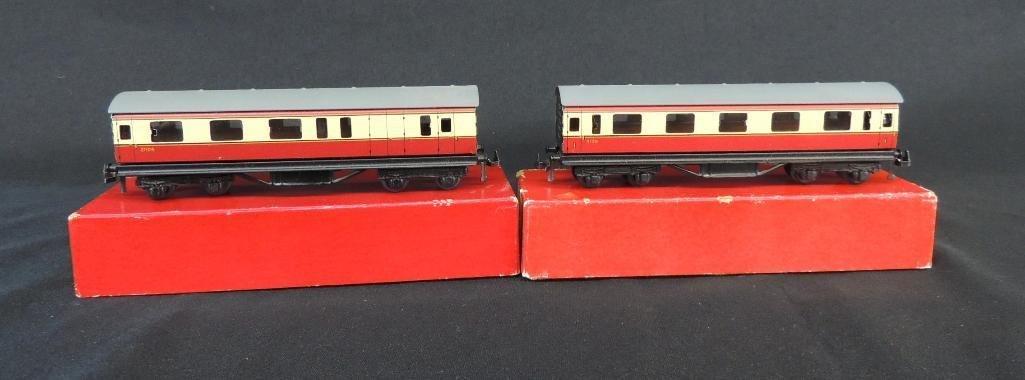 Group of 2 TTR British Railways Bogie Coaches with