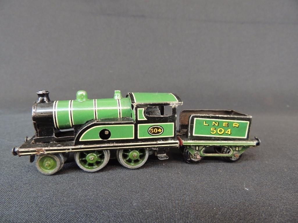 Pre War German Clockworks Bing Lner 504 Locomotive and