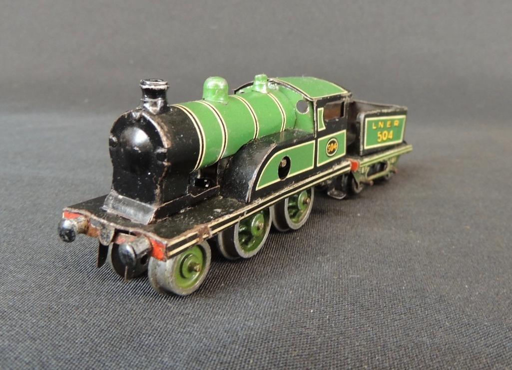 Pre War German Clockworks Bing Lner 504 Locomotive and - 2
