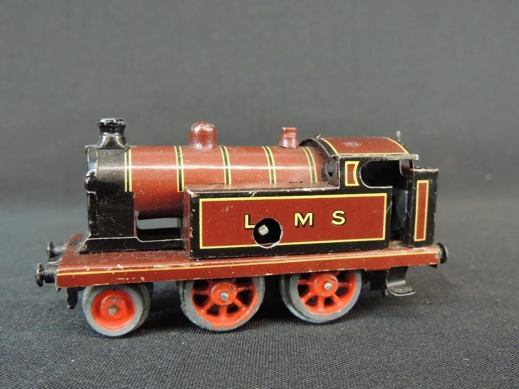 Pre War German Clockworks Bing LMS 2-4-07 Locomotive