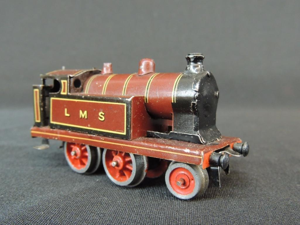 Pre War German Clockworks Bing LMS 2-4-07 Locomotive - 2