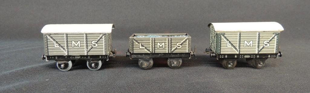 Pre War German Bing 3 Car Set of Box Cars