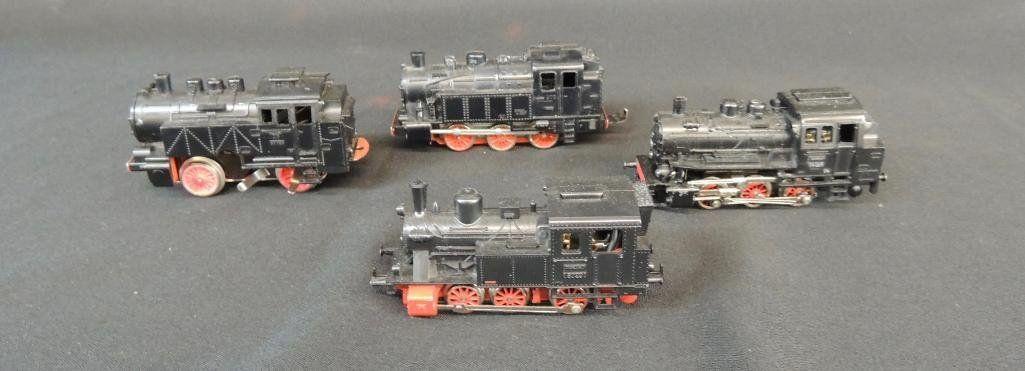 Group of 4 German Marklin 0-6-07 Locomotives