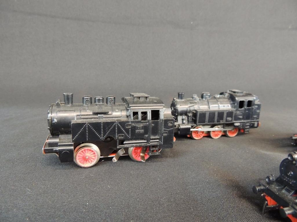 Group of 4 German Marklin 0-6-07 Locomotives - 2