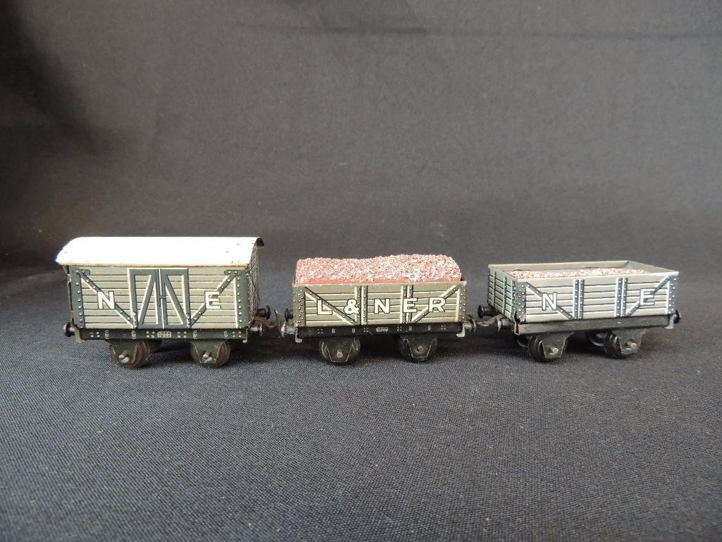 Pre War German Bing 3 Car Set of Box Cars
