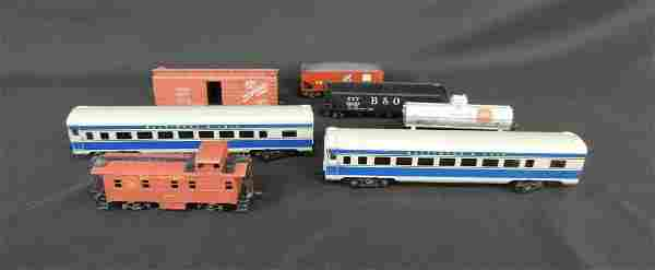 Group of 7 Varney Train Cars Featuring Gulf, Everywhere