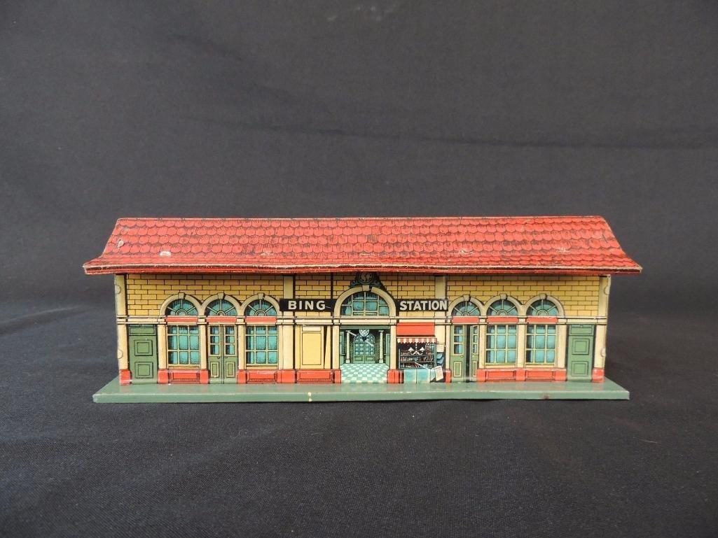 Pre War German Bing Tin Litho Station