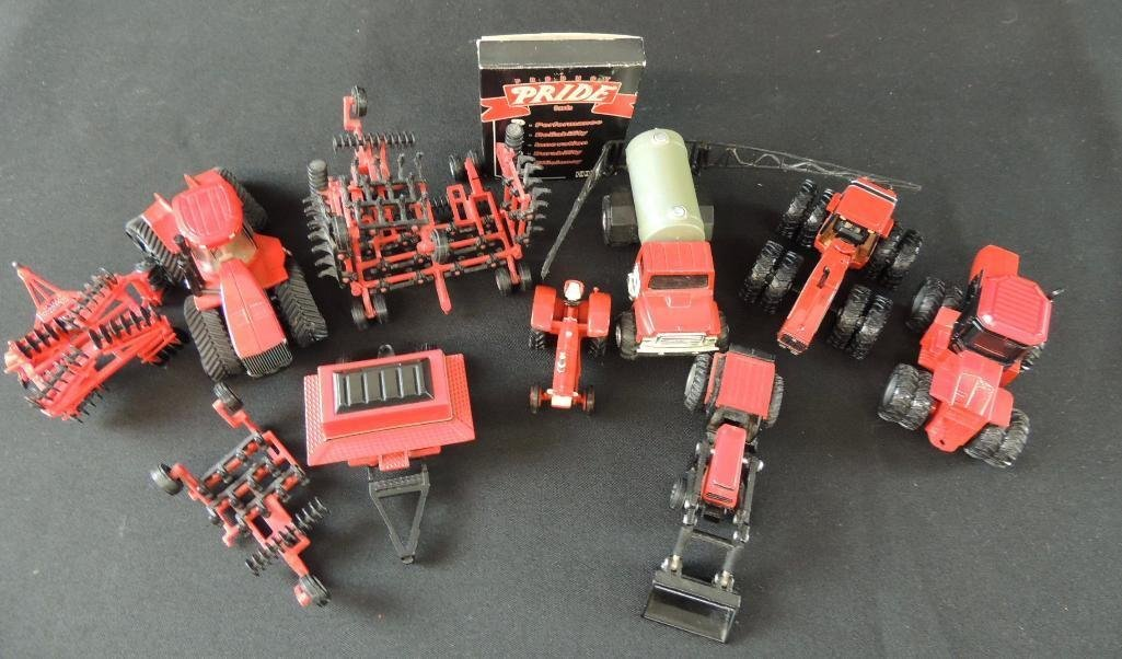 Group of 11Case International Toy Tractors and Plows - 2
