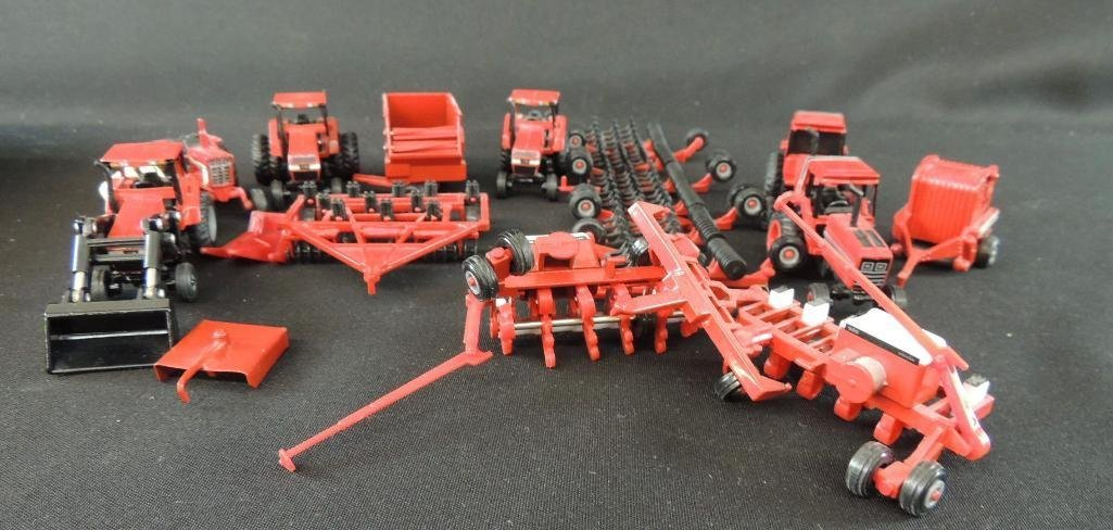 Group of 13 International Harvester and Case Tractors,