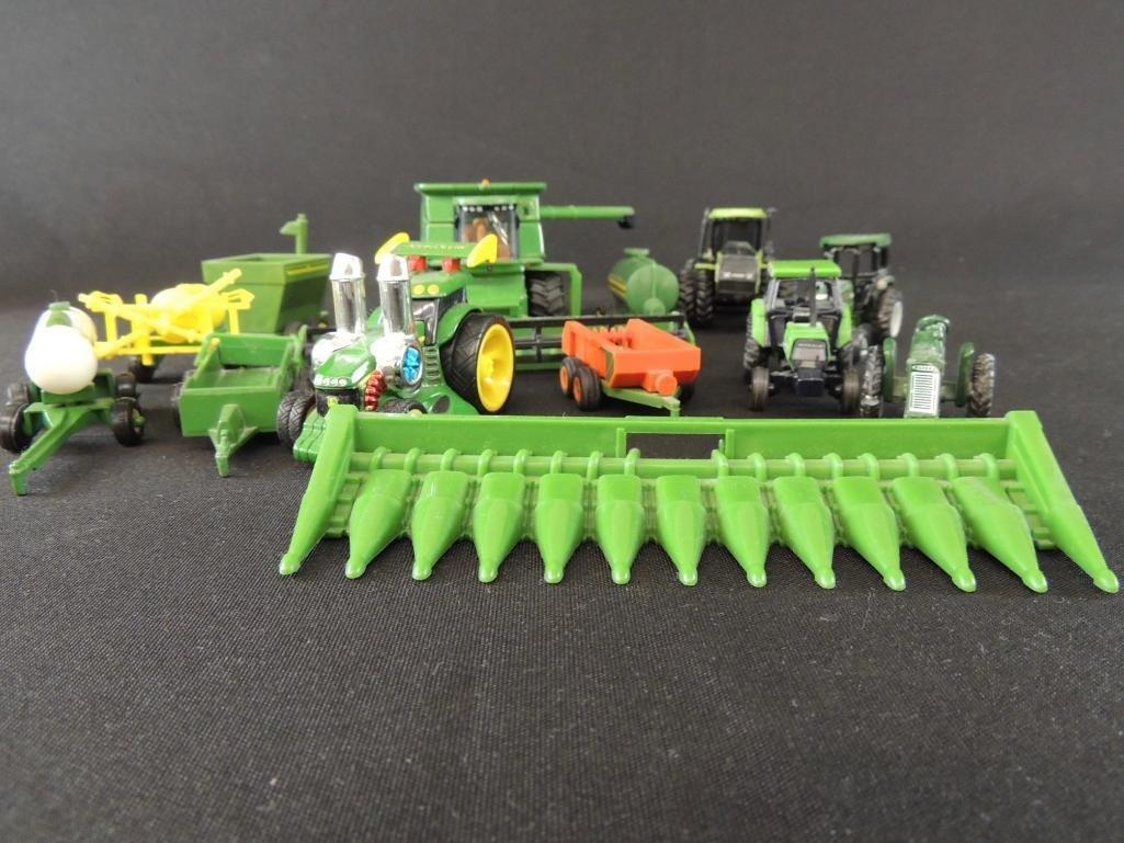 Group of 13 John Deere Tractors, Combines, and More
