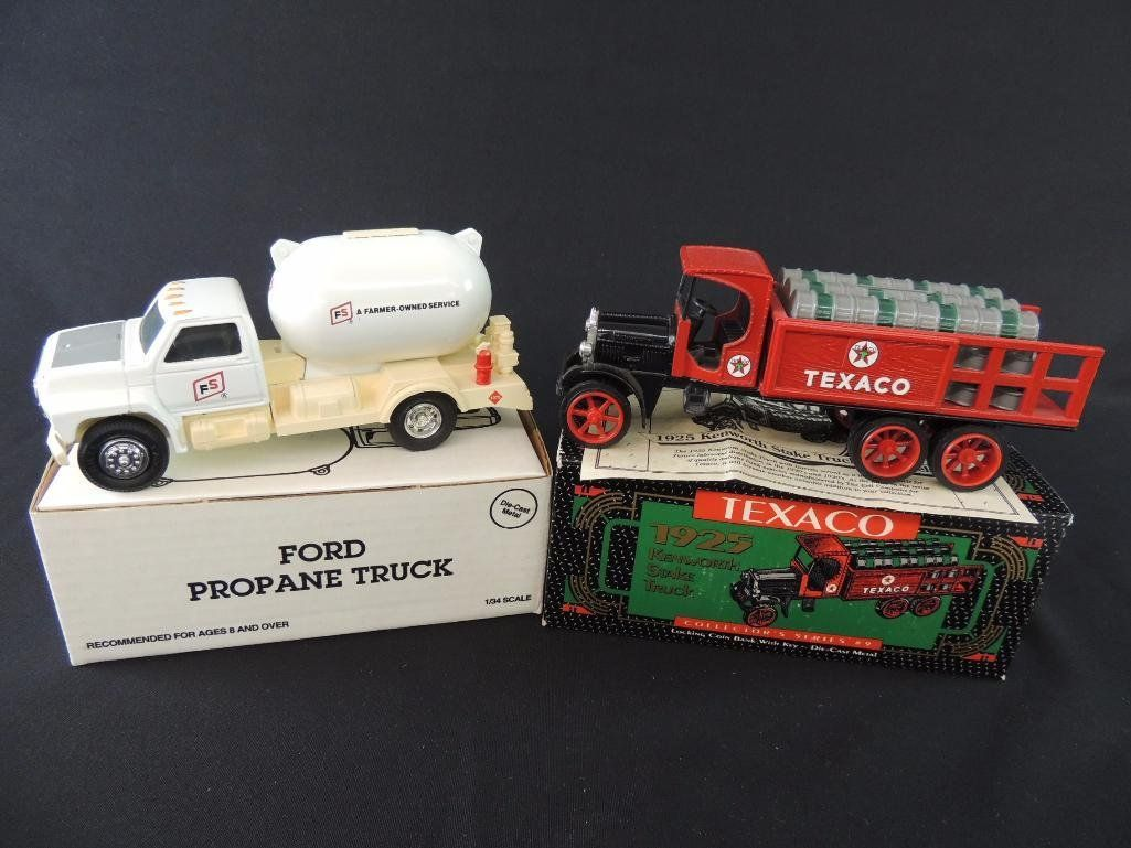 Group of 2 1/34 Scale Die-Cast Coin Bank Trucks