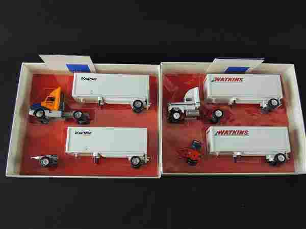 Group of 2 Roadway and Watkins Die-Cast Semi's with