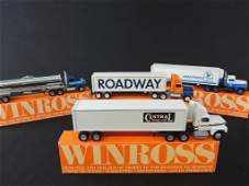 Group of 4 Winross Die-Cast Semi's Featuring Roadway,