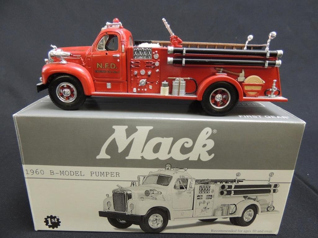 First Gear N.F.D. 1960 Mack B-Model Pumper Fire Truck