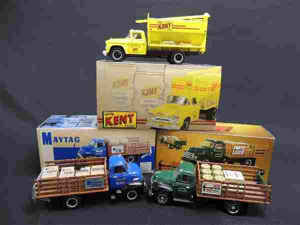 Group of 3 First Gear Kent, Maytag, and Ace Die-Cast