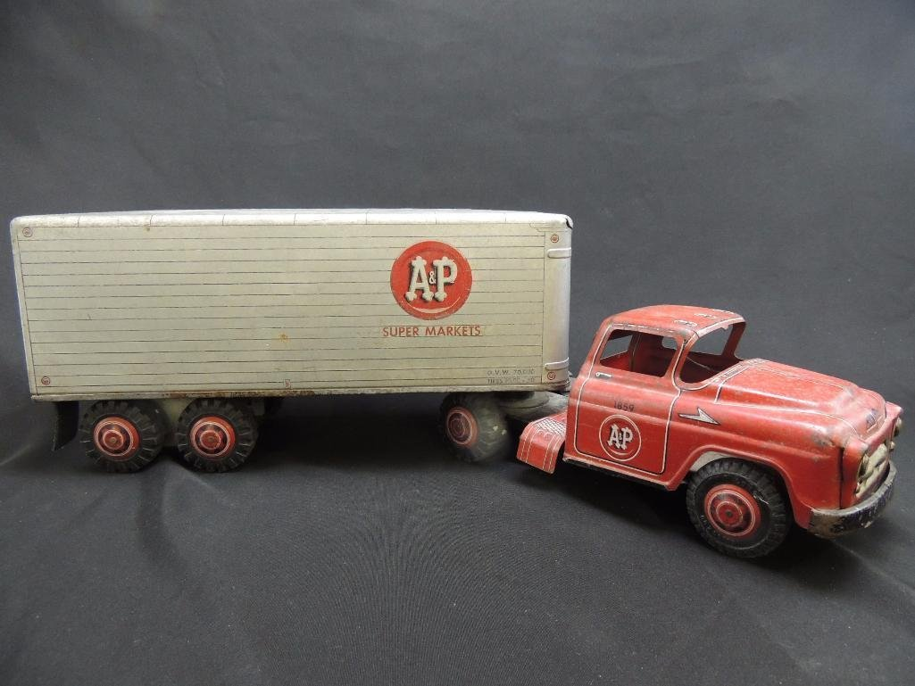 Large Antique A&P Super Markets Truck and Trailer