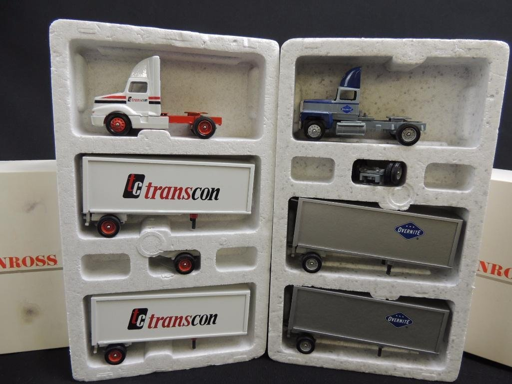 Group of 2 Winross Die-Cast Semi's Featuring Transcon - 2