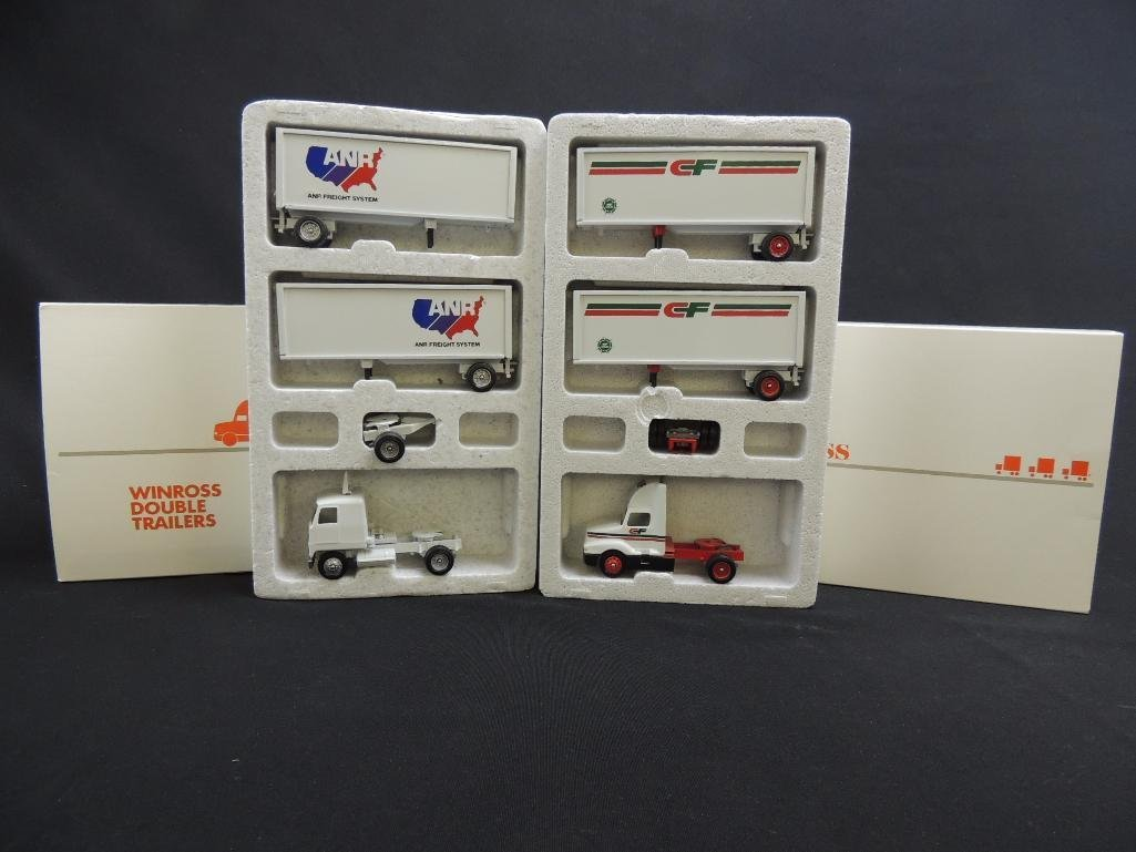 Group of 2 Winross Die-Cast Semi's Featuring ANR and CF