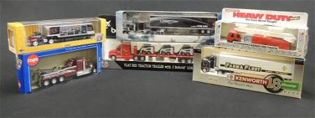 Group of 6 Die-Cast Semi's Featuring Lone star, Farm