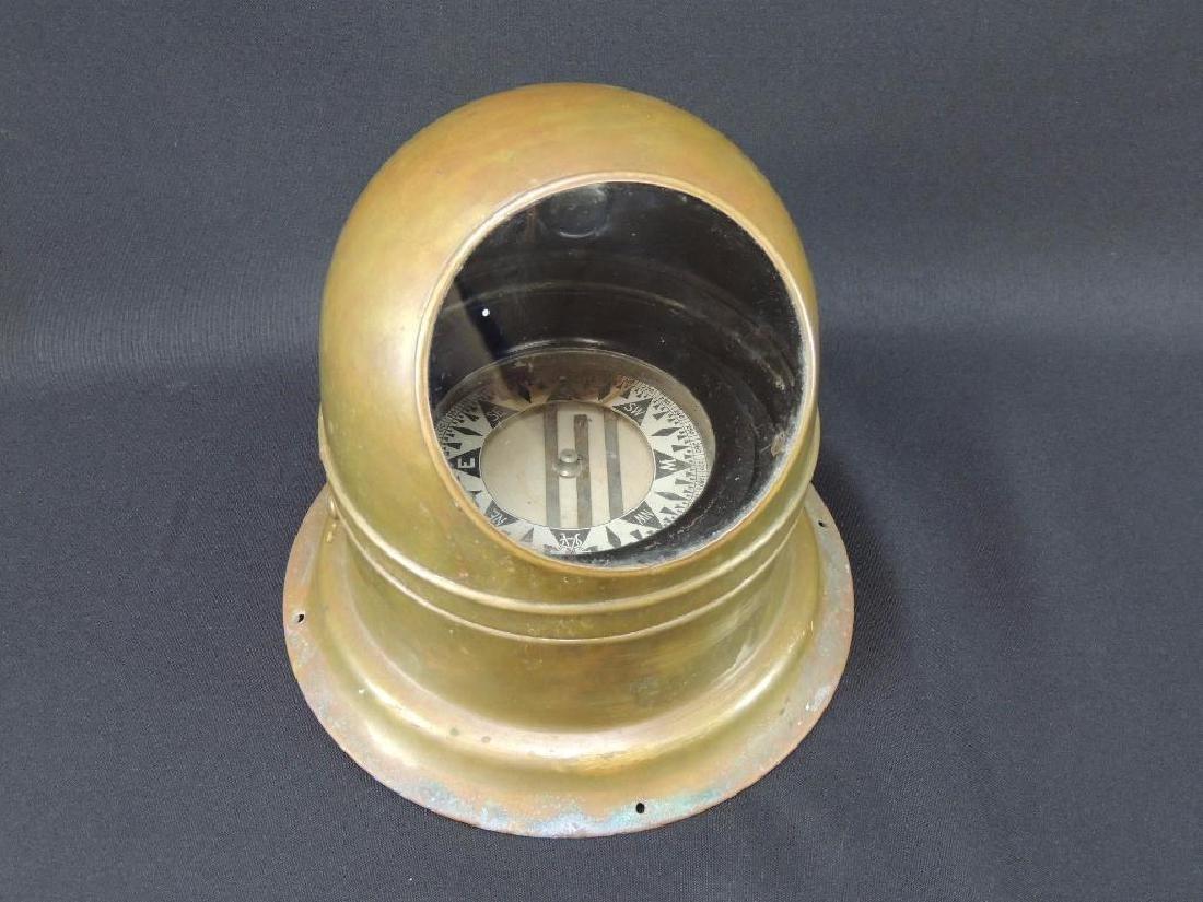 Antique Binnacle Brass Ships Compass