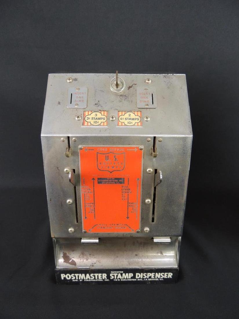 Antique Postmaster 10 Cents Stamp Dispenser with