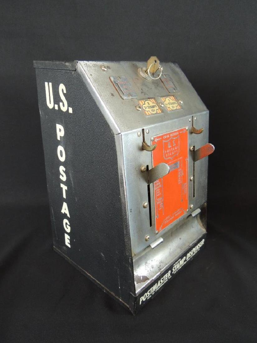 Antique Postmaster 10 Cents Stamp Dispenser with - 5
