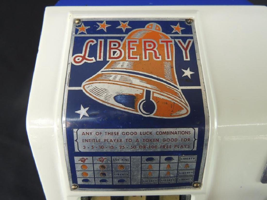 """Antique """"Liberty"""" Blue and White 5 Cent Trade - 5"""