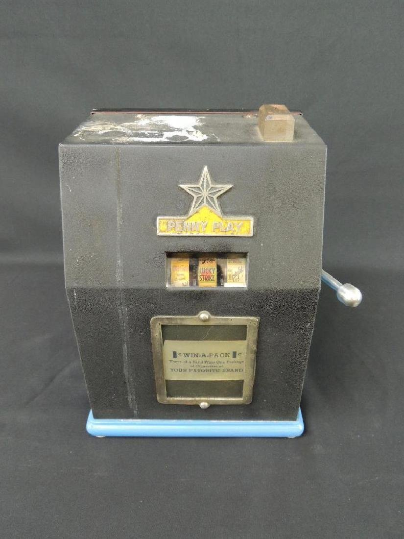 """Antique """"Penny Play"""" Win-A-Pack Trade Stimulator with"""