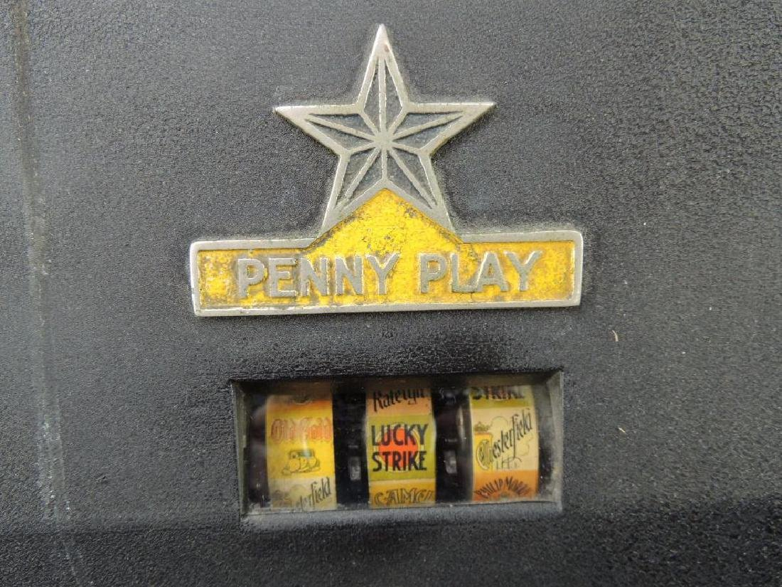 """Antique """"Penny Play"""" Win-A-Pack Trade Stimulator with - 2"""