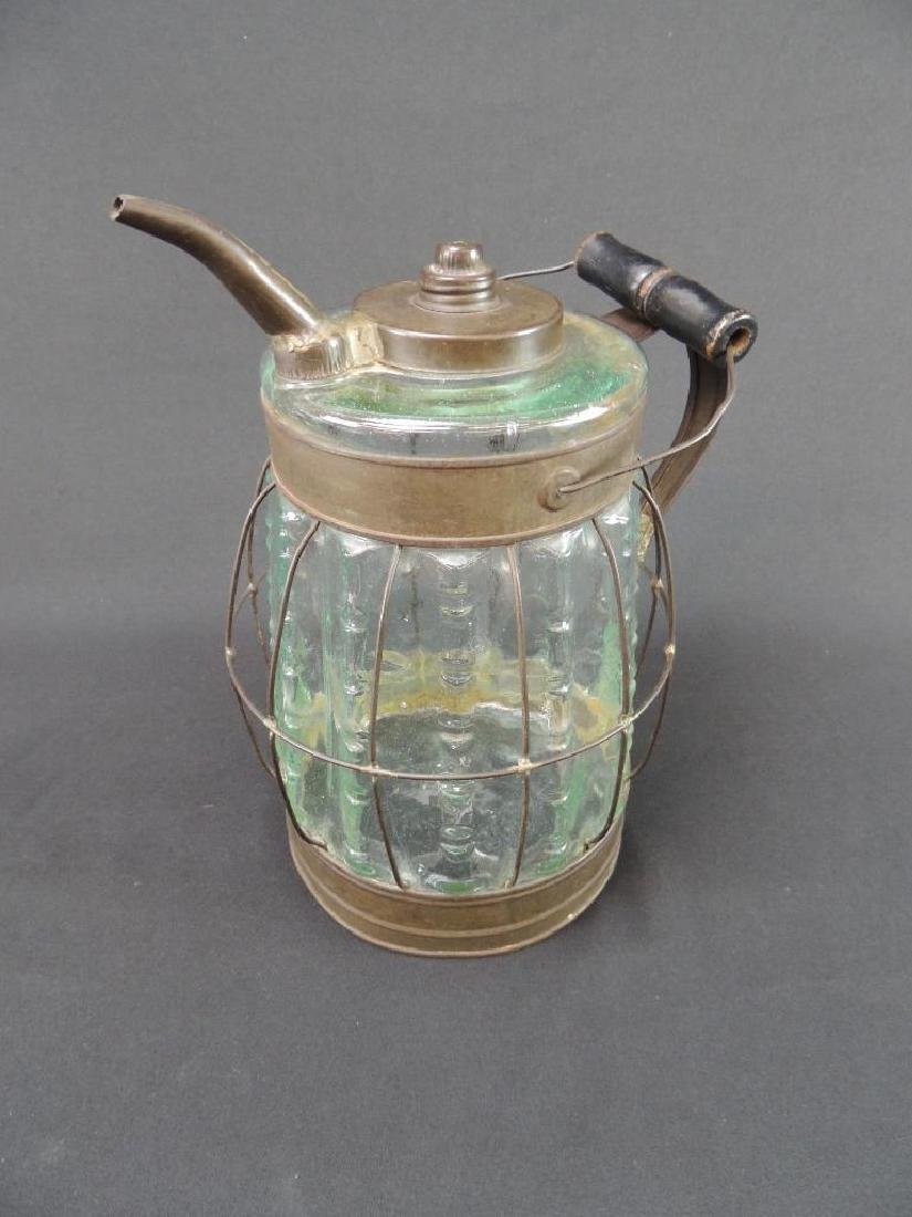 Antique Glass Oil or Gasoline Canister