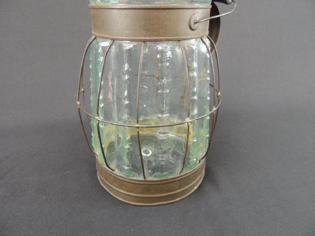Antique Glass Oil or Gasoline Canister - 2