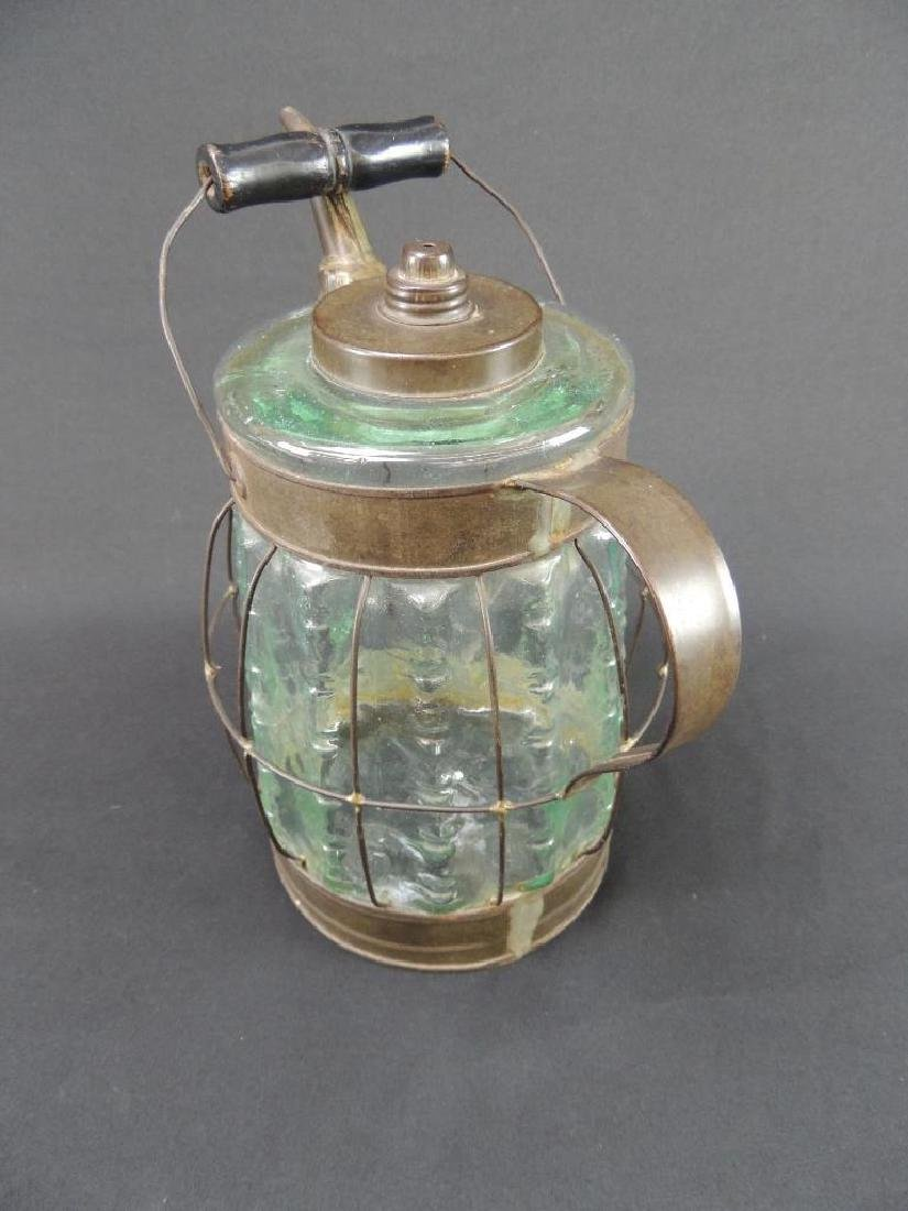 Antique Glass Oil or Gasoline Canister - 3
