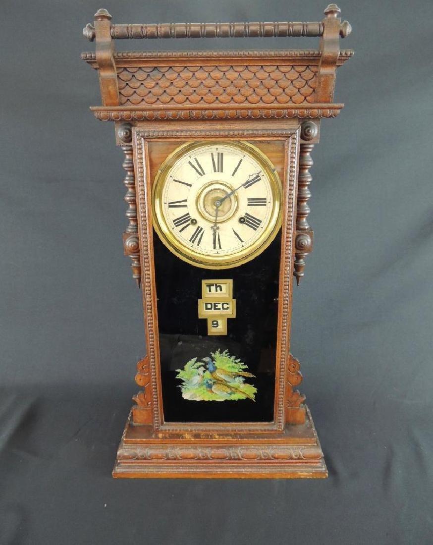"""Antique Wm. L. Gilbert """"Oriental"""" Eight Day Half Hour"""