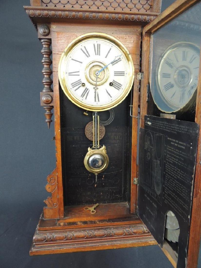 """Antique Wm. L. Gilbert """"Oriental"""" Eight Day Half Hour - 5"""