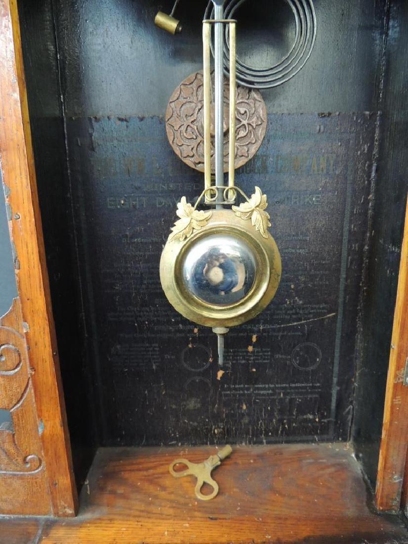 """Antique Wm. L. Gilbert """"Oriental"""" Eight Day Half Hour - 6"""