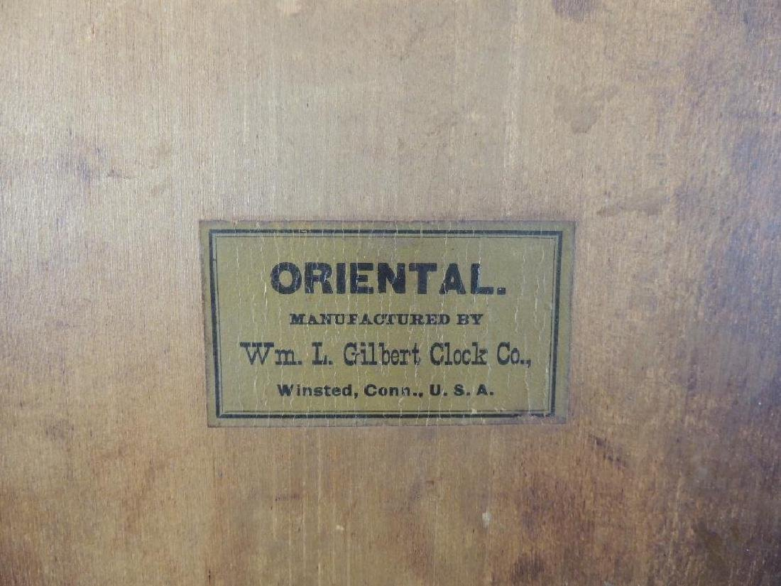 """Antique Wm. L. Gilbert """"Oriental"""" Eight Day Half Hour - 7"""