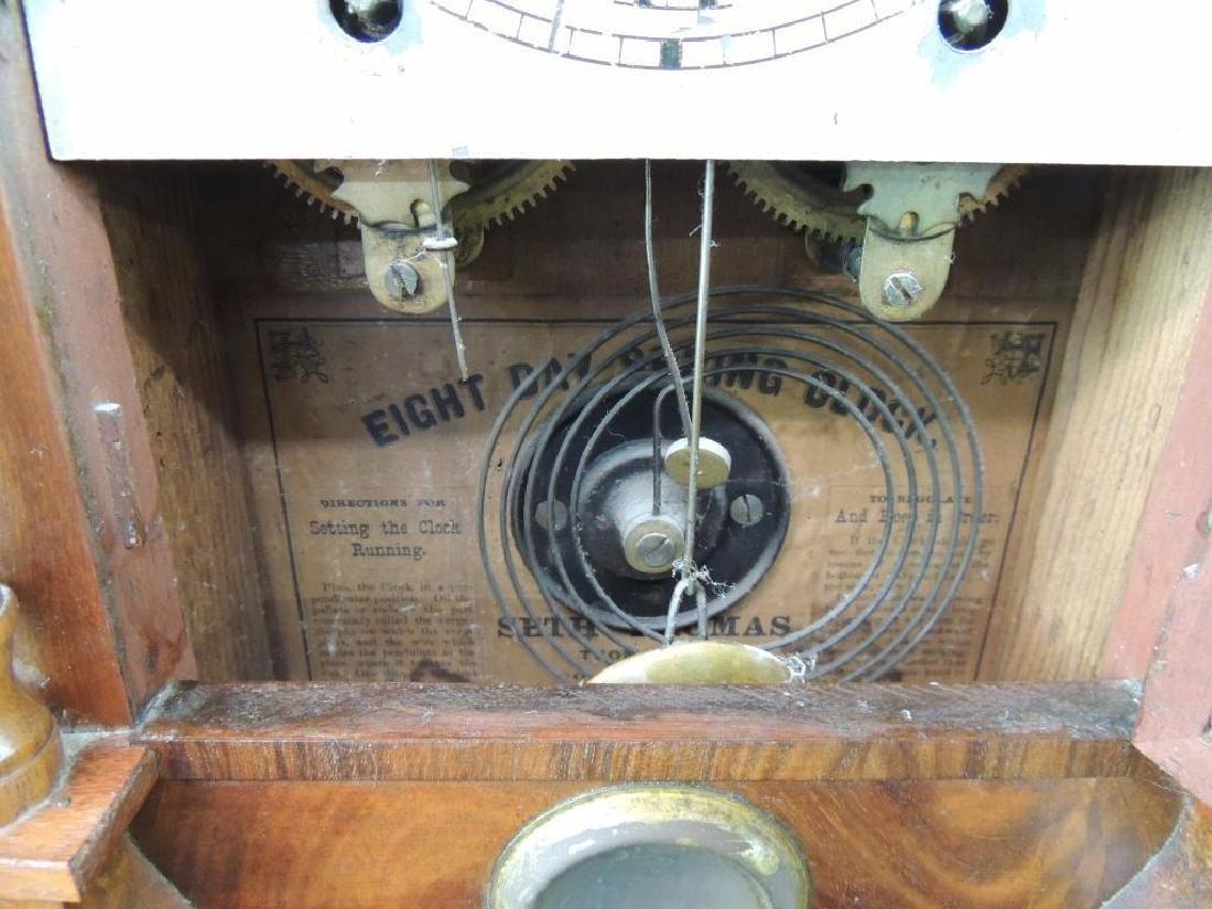 Antique Seth Thomas Eight Day Spring Kitchen Clock - 4