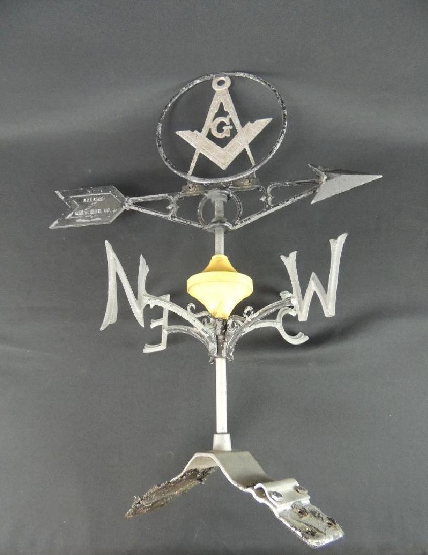 Antique Masonic Symbol Weathervane