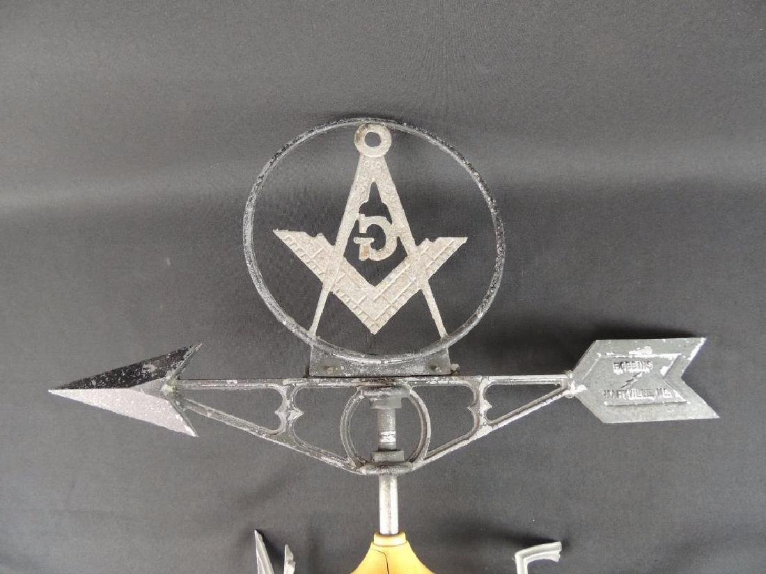 Antique Masonic Symbol Weathervane - 5