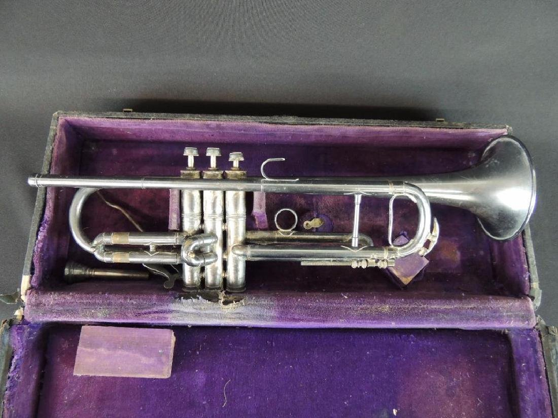 Pan American Antique Trumpet with Case - 2