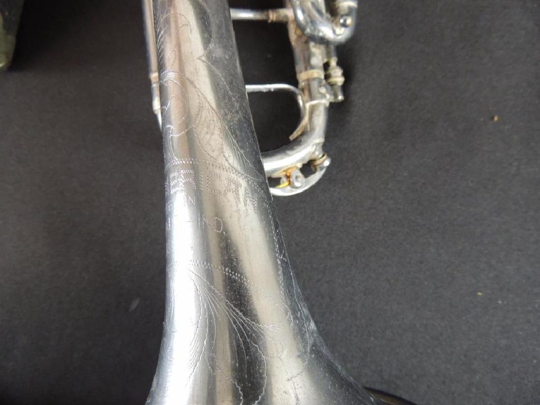 Pan American Antique Trumpet with Case - 4