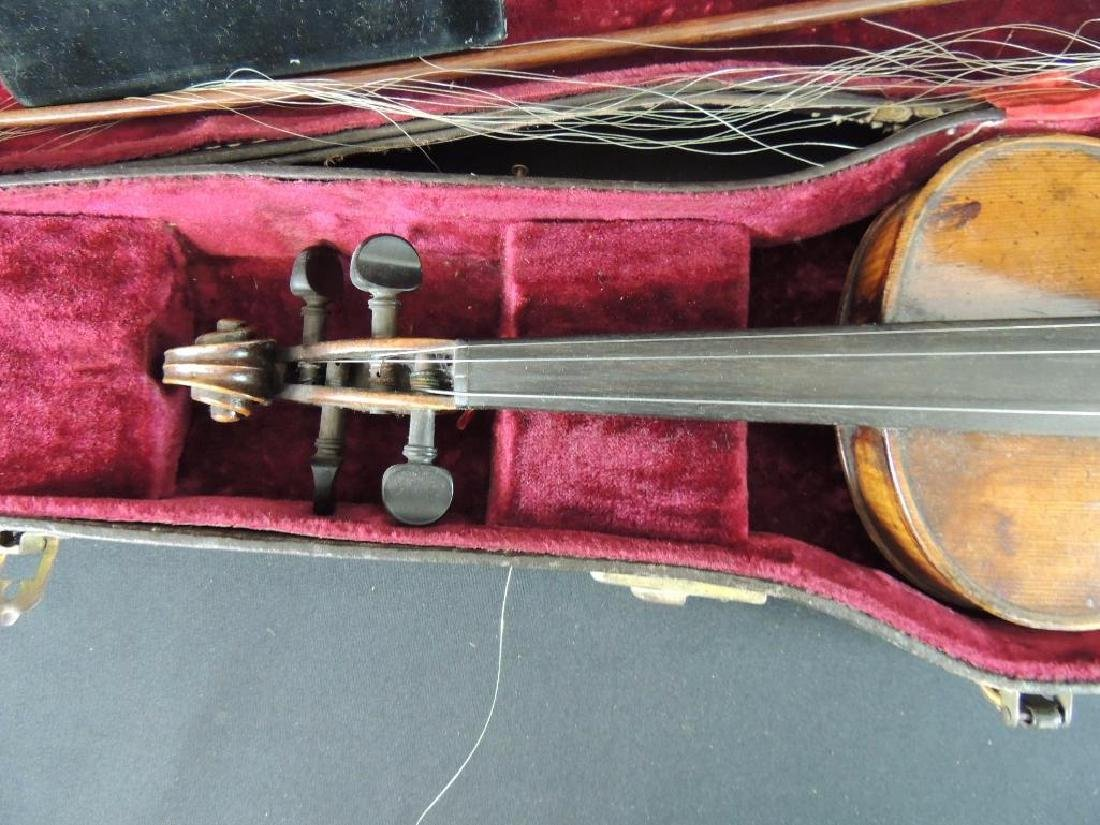 Antique Violin with Bow and Case - 3