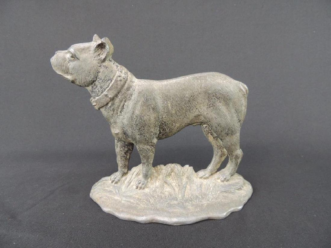 Antique Metal Terrier Dog Doorstop