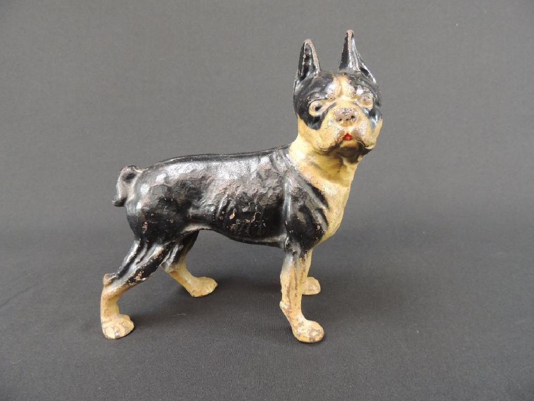 Antique Cast Iron Terrier Dog Doorstop