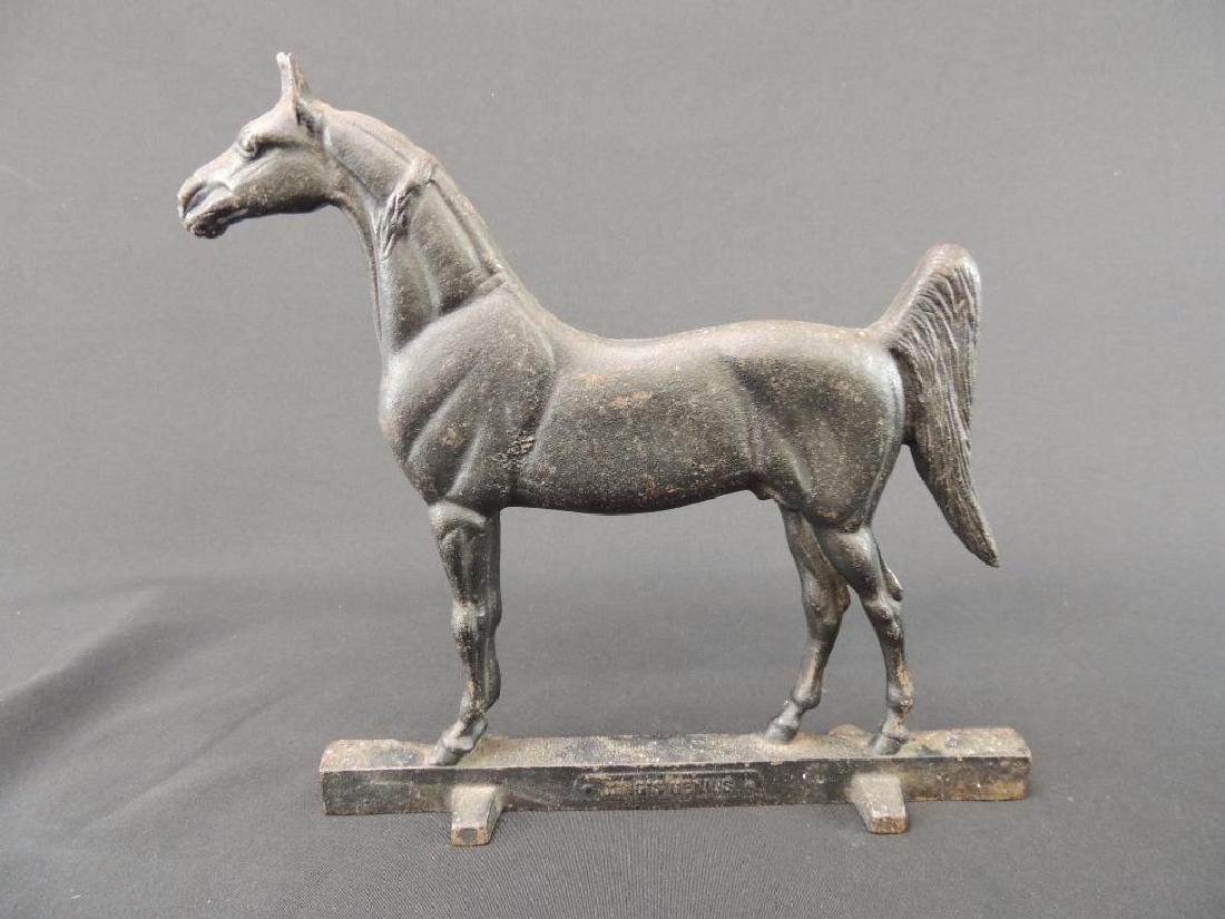 Antique Cast Iron Kings Genius Horse Doorstop