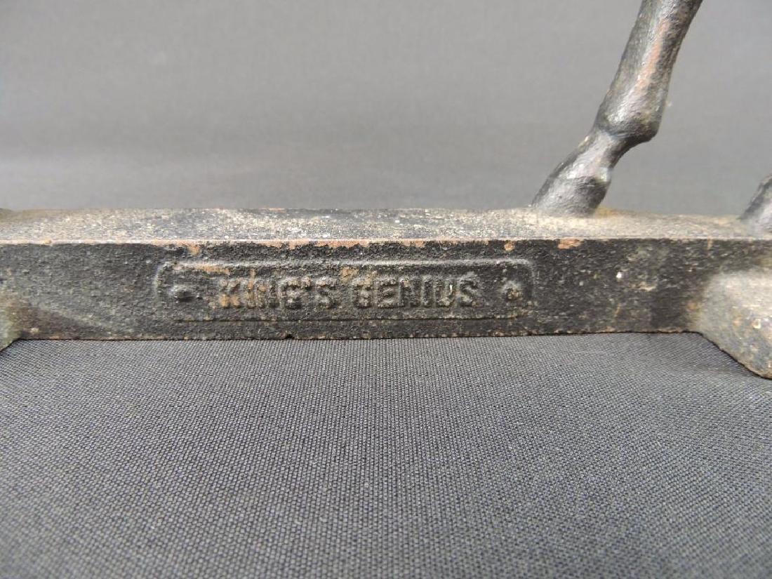 Antique Cast Iron Kings Genius Horse Doorstop - 2